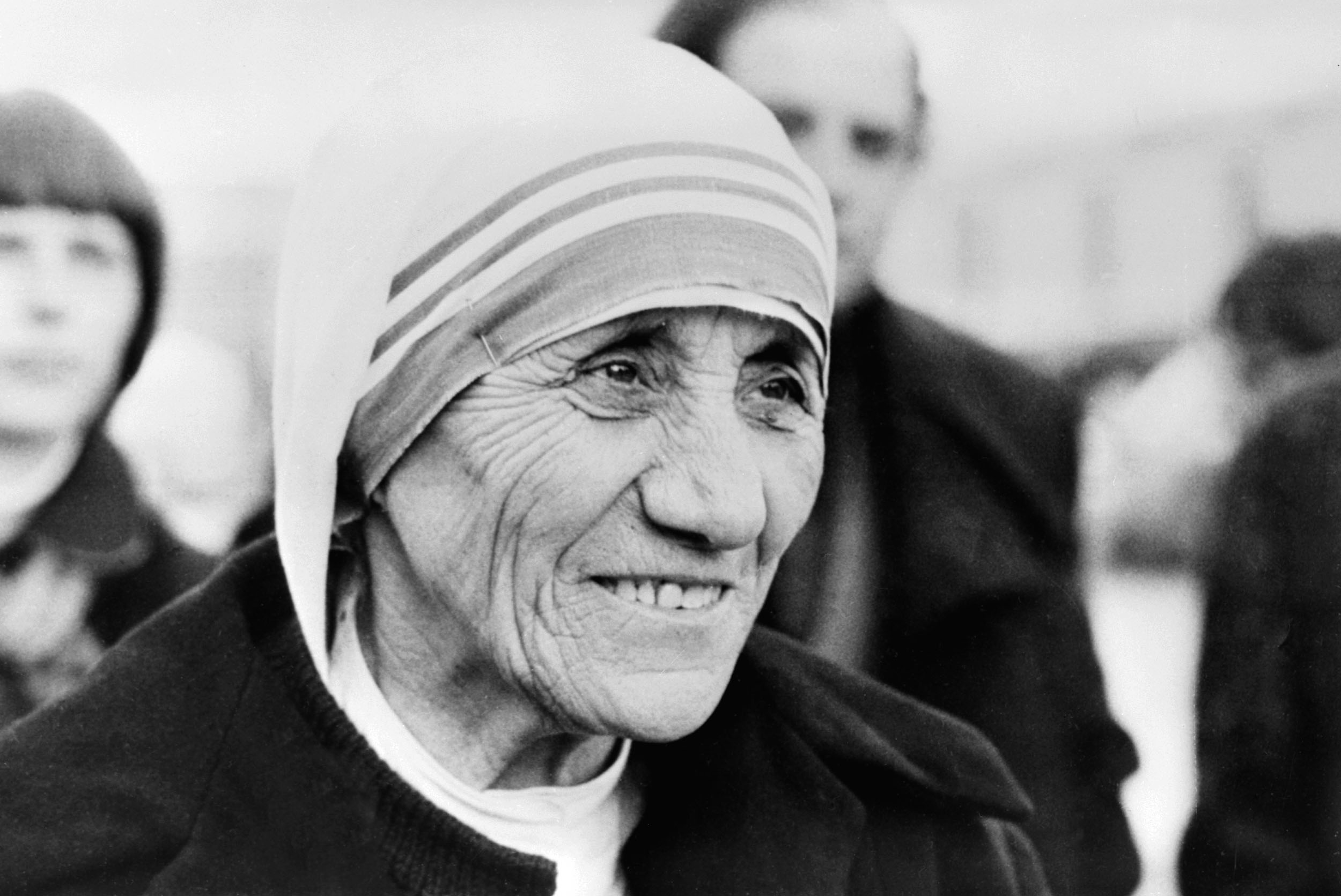 (FILES) Photo taken 21 January 1980 in Copenhagen of Roman Catholic nun Mother Teresa, who received the Peace Nobel Prize 1979.¬AFP PHOTO